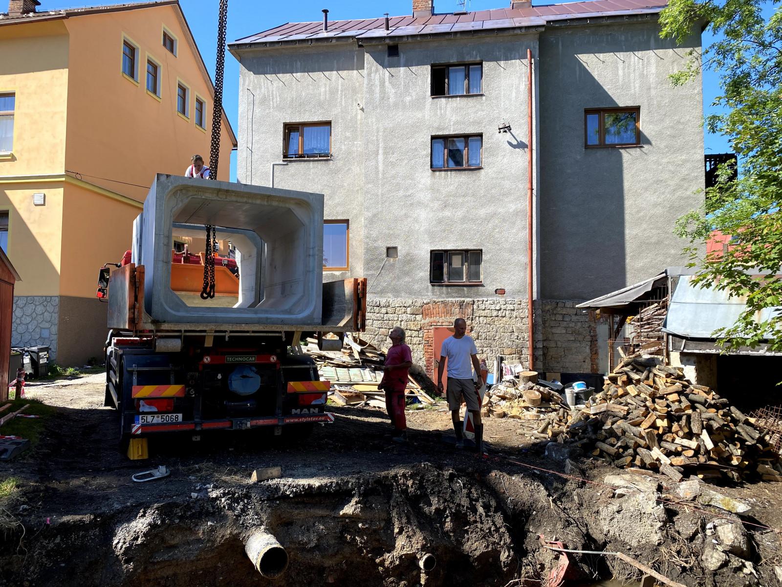 Rekonstrukce mostu v Mostecké ul. ve Smržovce